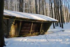 Wood barn Stock Image