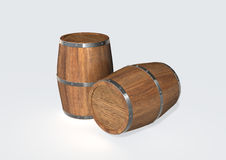 Wood barrel vector illustration