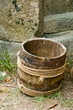 Wood barrel Stock Photo