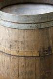 Wood barrel. Close up shoot of a wine wood barrel Stock Photo