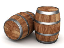 Wood barrel. Image of the old oak barrels on a white background Royalty Free Stock Images