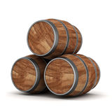 Wood barrel. Image of the old oak barrels on a white background Stock Photography