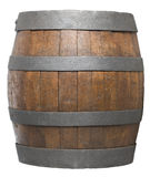 Wood barrel stock image