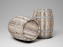 Wood barrel. 3d image of classic wood barrel Royalty Free Stock Image