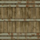 Wood barrel generated seamless hires texture Stock Photos