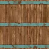 Wood barrel generated seamless hires texture Stock Photos