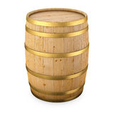 Wood barrel isolated. On white vector illustration
