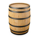 Wood barrel isolated Royalty Free Stock Images