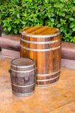 Wood barrel Stock Photos