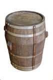 Wood barrel with steel ring Stock Photography