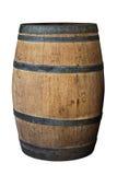 Wood Barrel on White Background Royalty Free Stock Image