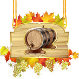 Wood barrel for wine Royalty Free Stock Image