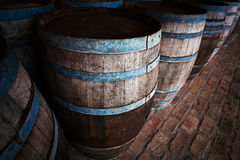 Wood barrels Royalty Free Stock Photography
