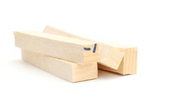 Wood bars. Collection wood bars on construction royalty free stock photos