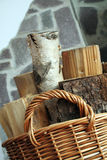 Wood in basket Royalty Free Stock Photo