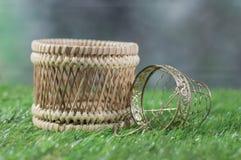Wood Basket and aluminum basket Royalty Free Stock Photography