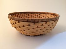 Wood basket. For decorations Royalty Free Stock Images