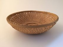 Wood basket. For decorations Royalty Free Stock Image
