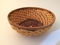 Wood basket. For decorations Stock Photography