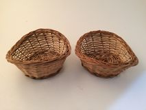 Wood basket. For decorations Royalty Free Stock Photos