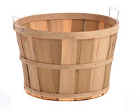 Wood Basket Royalty Free Stock Photography
