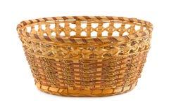 Wood basket Royalty Free Stock Photos