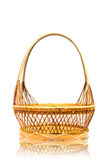 Wood basket. Stock Photos