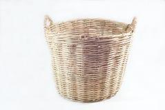 Wood basket on white background Stock Photography