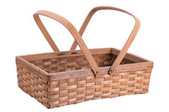 Wood basket Royalty Free Stock Photos