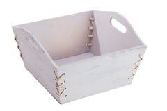 Wood basket Stock Image