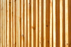 Wood battens were settle on the wall for building partition and background. Wood battens were settle on the wall for building  partition and background stock photography