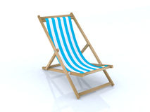 Wood beach chairs various colors Royalty Free Stock Images