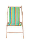 Wood beach chairs various colors Royalty Free Stock Image