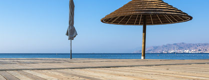 Wood beach at the Red Sea in Eilat Royalty Free Stock Images