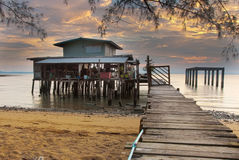 Wood beach villas Royalty Free Stock Photography