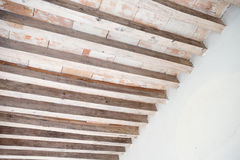 Wood beam ceiling. This image shows a wood beam ceiling in Mexico Royalty Free Stock Photography