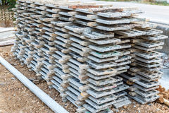 Wood beam stack for construction job Royalty Free Stock Image
