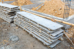 Wood beam stack for construction job Royalty Free Stock Photo