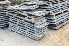 Wood beam stack for construction job Royalty Free Stock Photography