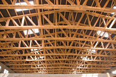 WOOD BEAM AND TRUSS Stock Image