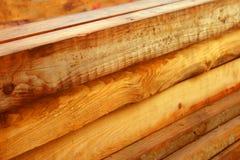 Wood beams. A pile of wood beams Royalty Free Stock Photography