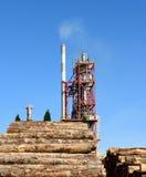 Wood bearbetningsanläggning Royaltyfri Bild