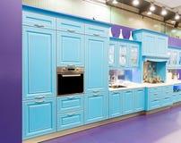 Wood beautiful custom kitchen interior design Stock Photo