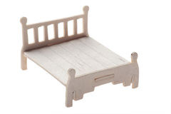 Wood bed toy Stock Photos