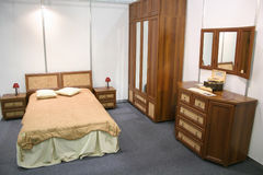 Wood bedroom Royalty Free Stock Photography