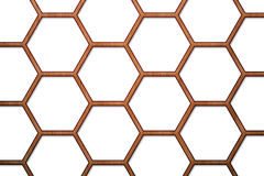 Wood Bee Hive Background. There is a wood bee hive background Stock Photos