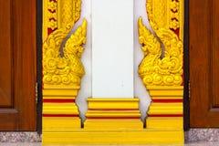 Wood begär med den thailändska modellen Royaltyfria Bilder