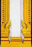Wood begär med den thailändska modellen Royaltyfri Foto