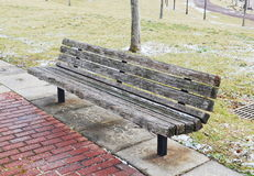 Wood bench Royalty Free Stock Photo