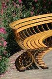 Wood Bench. Bench in a garden Royalty Free Stock Photos